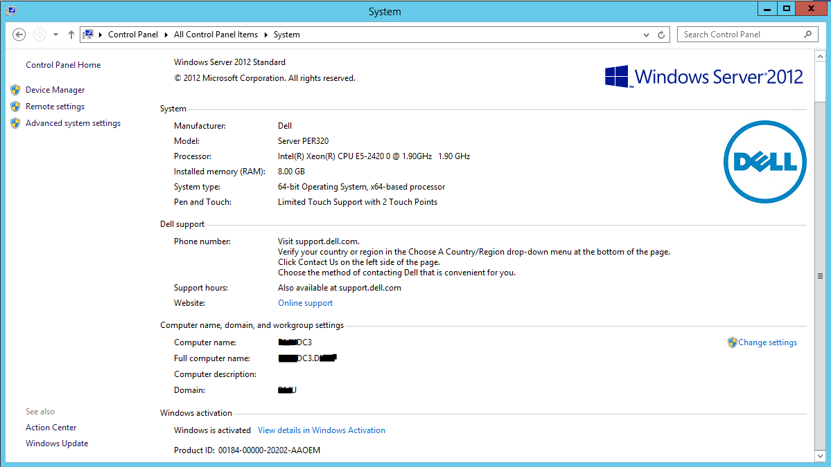 how to see domain name in windows